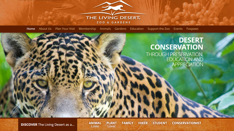 the living desert zoo and gardens website