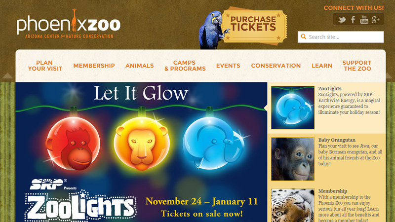phoenix arizona zoo website