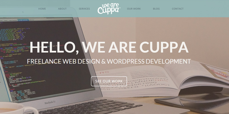 cuppa web design agency hero image