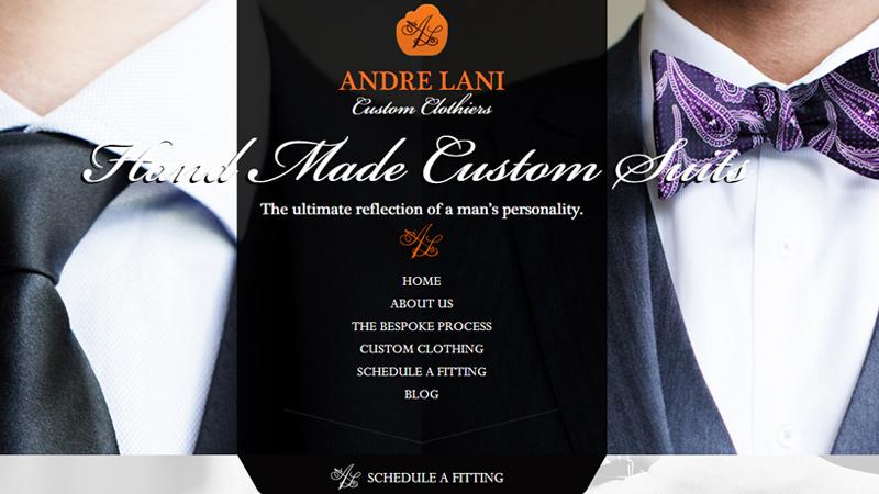 andre lani custom tailoring website company