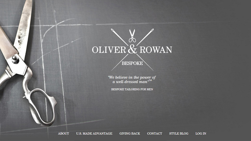 oliver and rowan bespoke company website