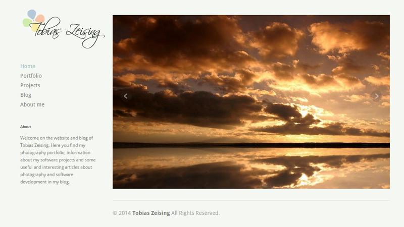 tobias zeising photography portfolio website