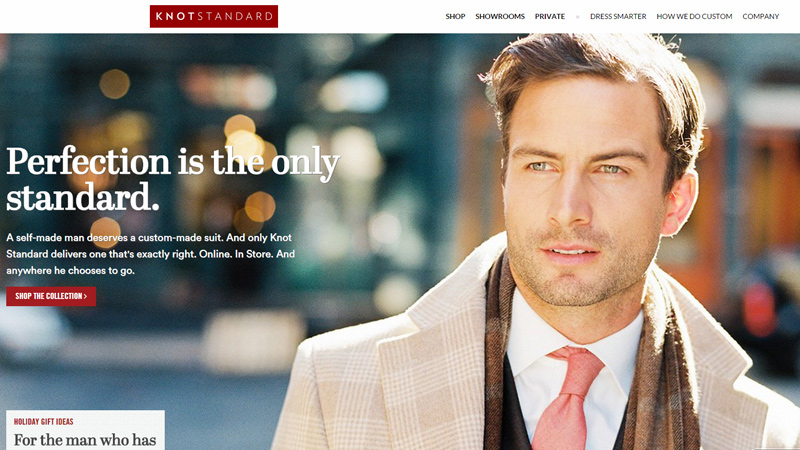 knot standard website custom tailor suits