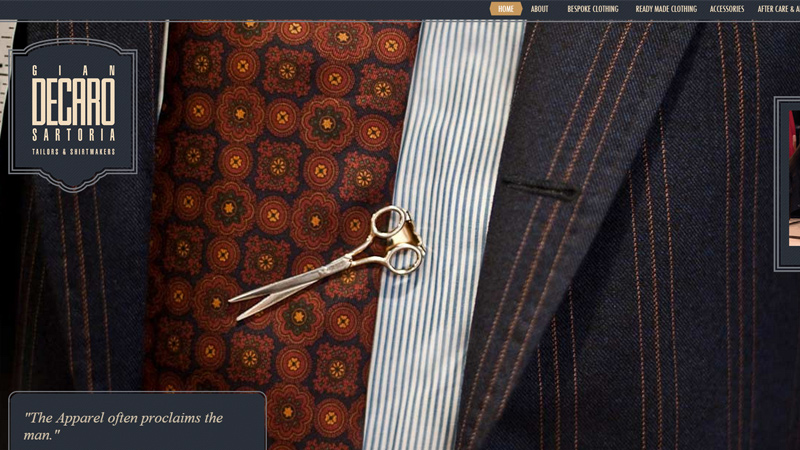 gian decaro tailors custom bespoke design