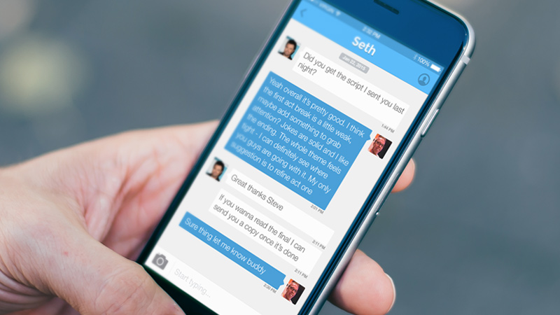 digimag - freebie psd iphone 6 ios8 chat app ui
