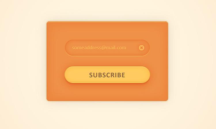 vector signup menu form