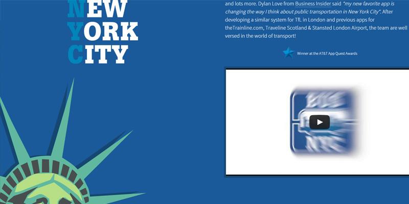 electric labs parallax portfolio website