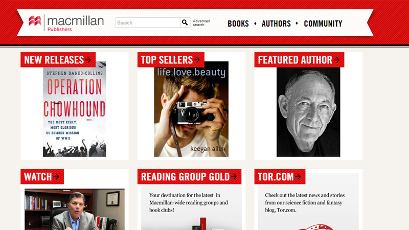 macmillan publishing company website layout