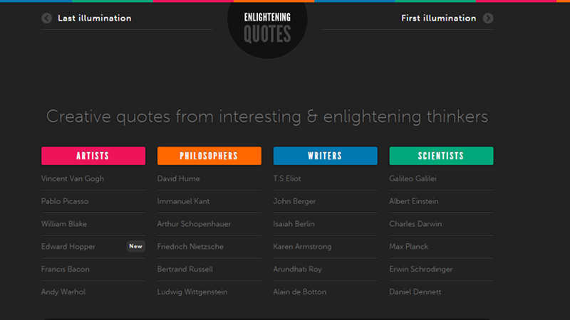 dark website enlightening quotes books