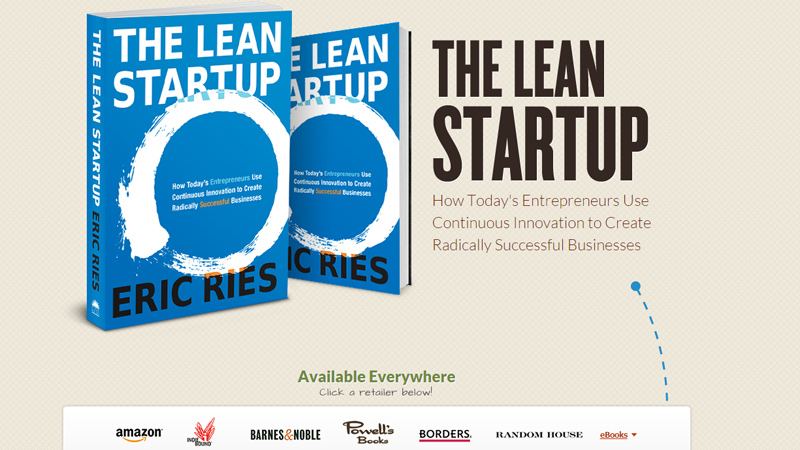the lean startup website homepage