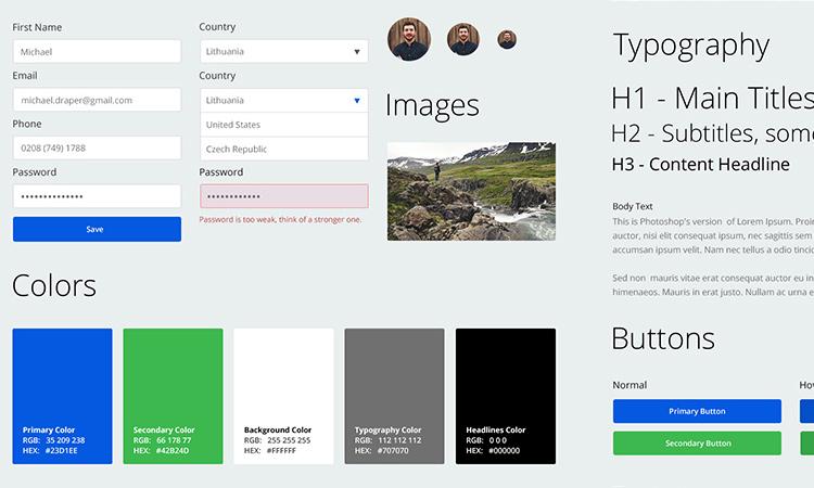 web app ui kit photoshop tutorial