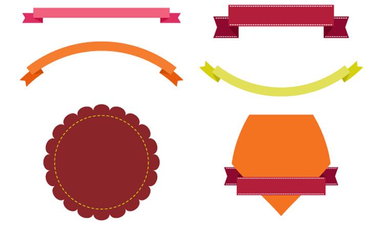 banner badges labels vector illustrator