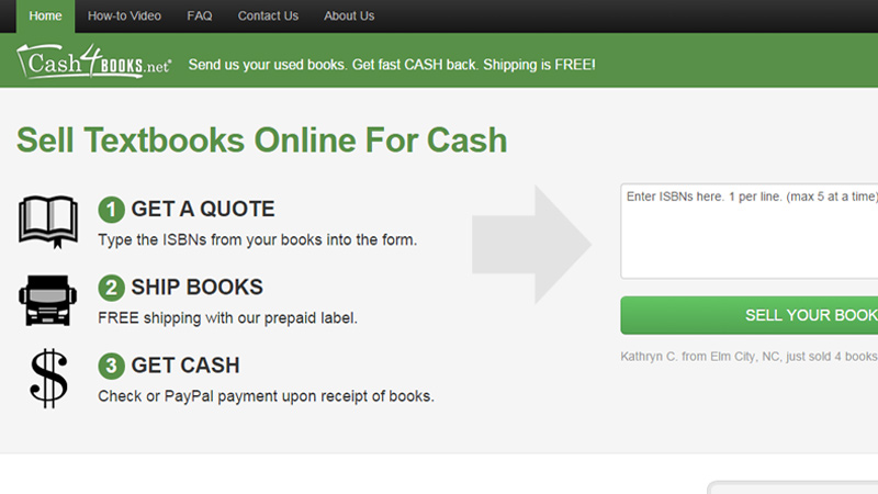 cash4books website service homepage