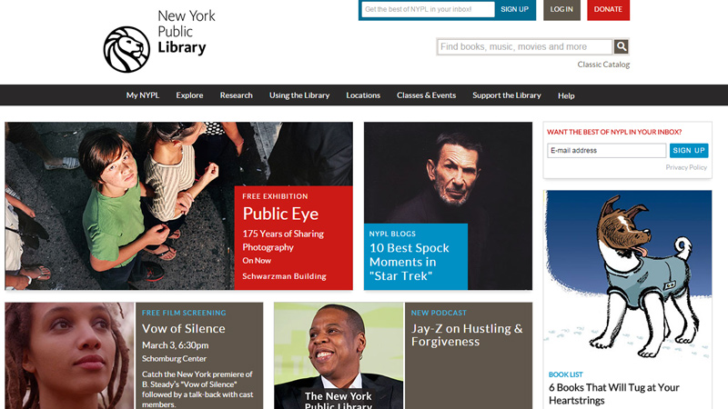 nypl new york public library website