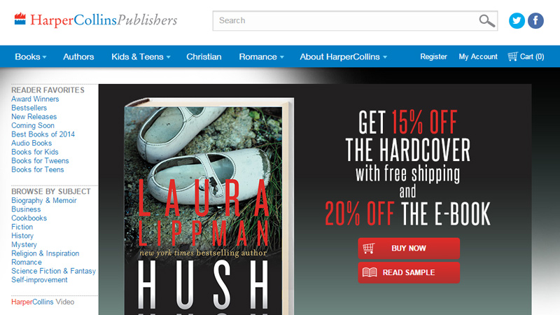 harper collins publishing company website