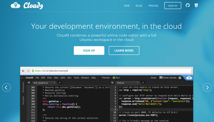 featured cloud9 programming tool