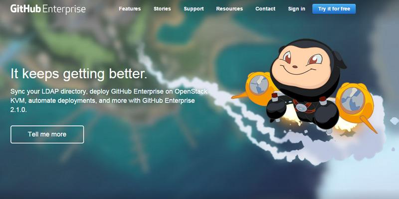 github enterprise hero image