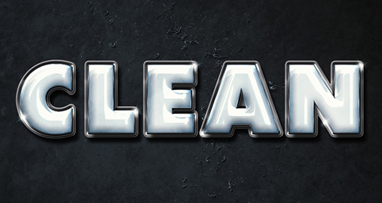 clean plastic text tutorial
