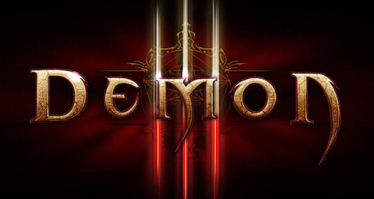 diablo3 text effect logo