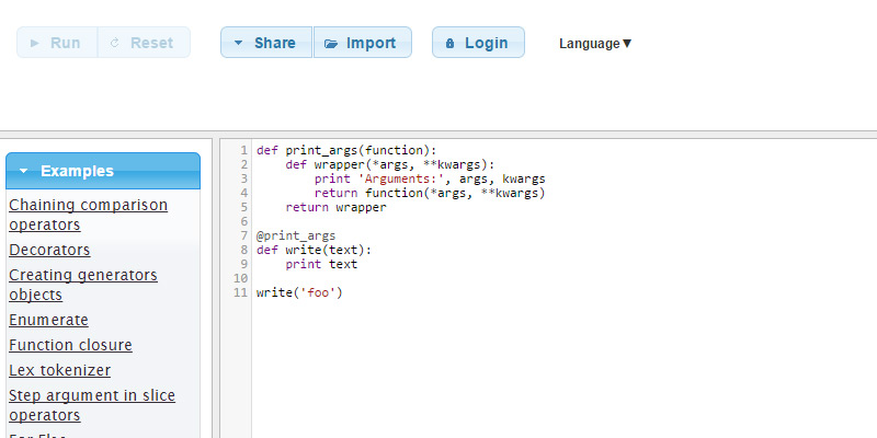 python fiddle cloud ide