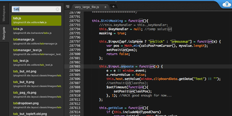 cloud9 ide editor online