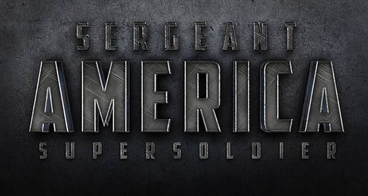 cinematic lettering photoshop logo