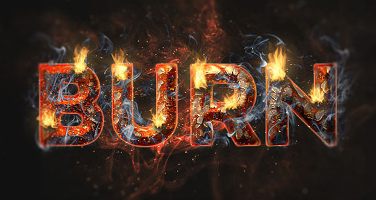 fire rust text effect photoshop tutorial