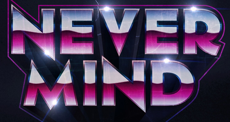 80s metal band shiny text effect