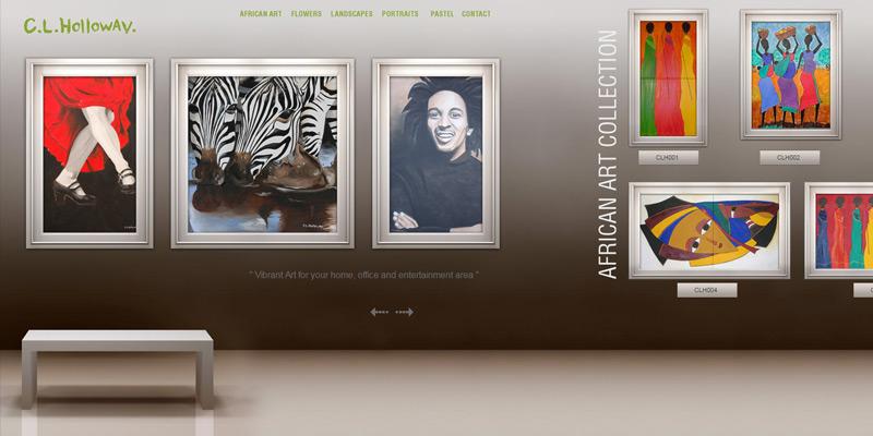 cl holloway portfolio design layout