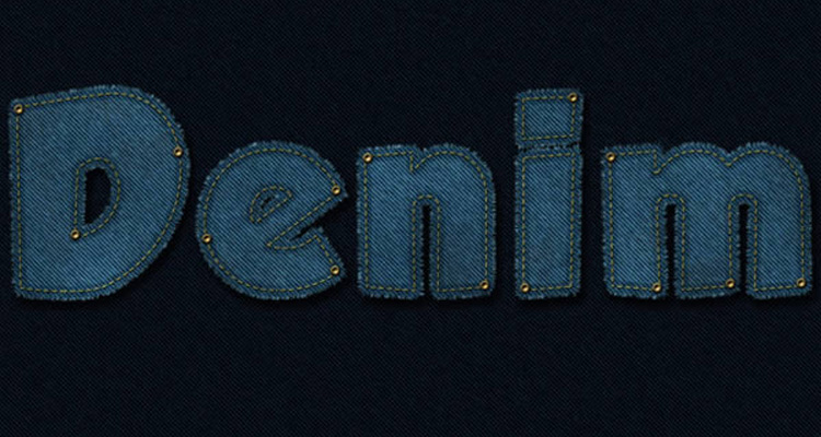 text effect texture denim jeans