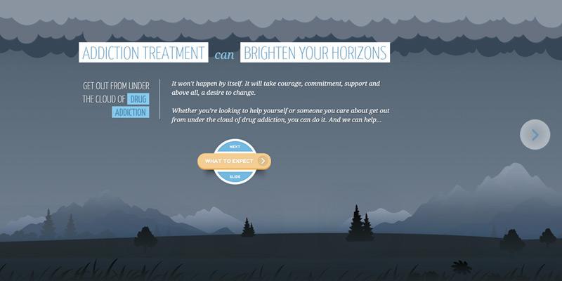 alcohol drug treatment horizontal layout
