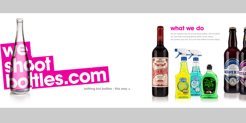 we shoot bottles homepage layout