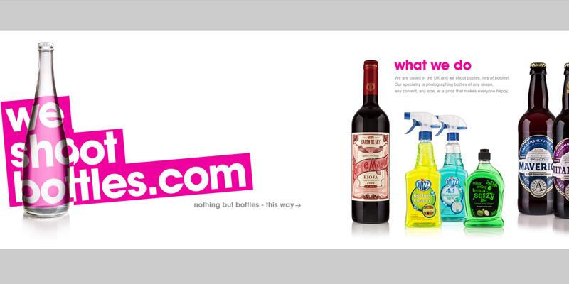 we shoot bottles homepage layout