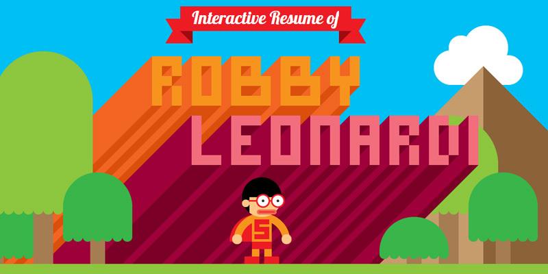 robby leonardi resume horizontal scrolling