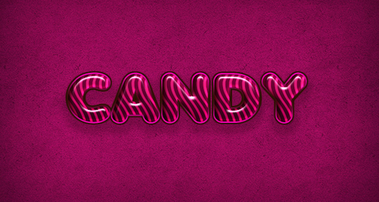 delicious pink candy effect