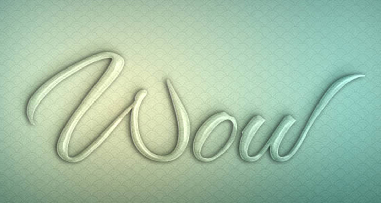 glass lettering photoshop effect