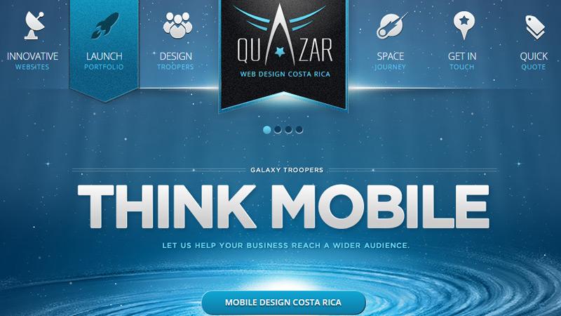 quazar icon navigation design agency