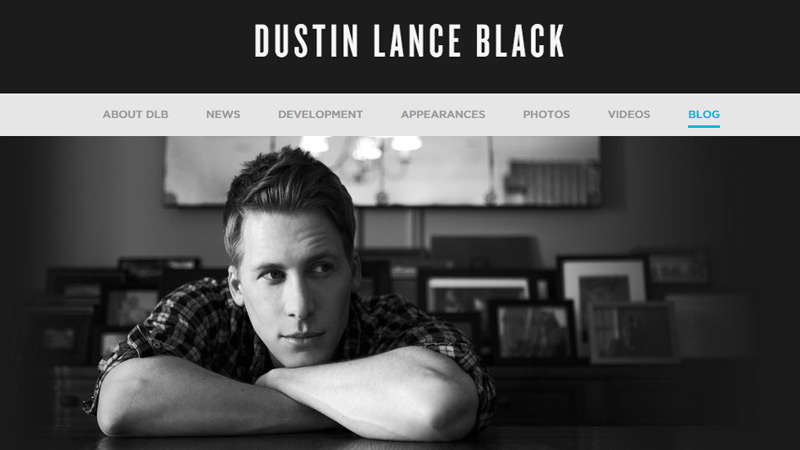 dustin lance black portfolio screenwriter