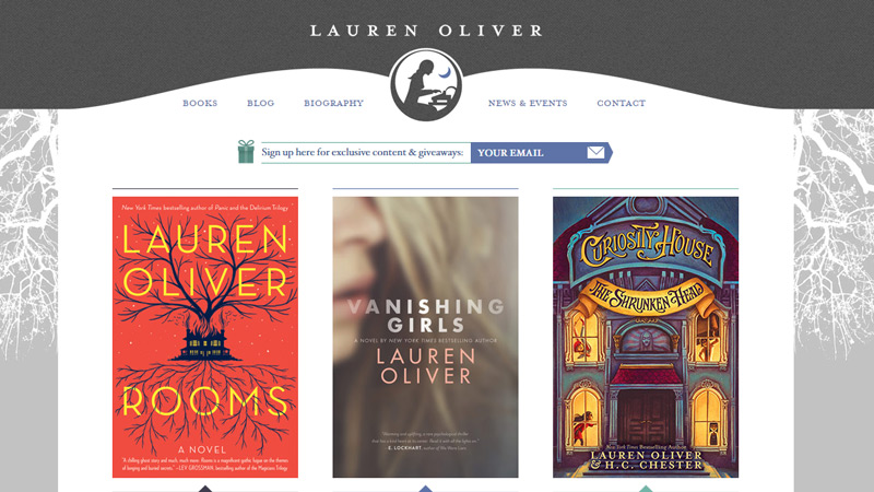 lauren oliver books website homepage