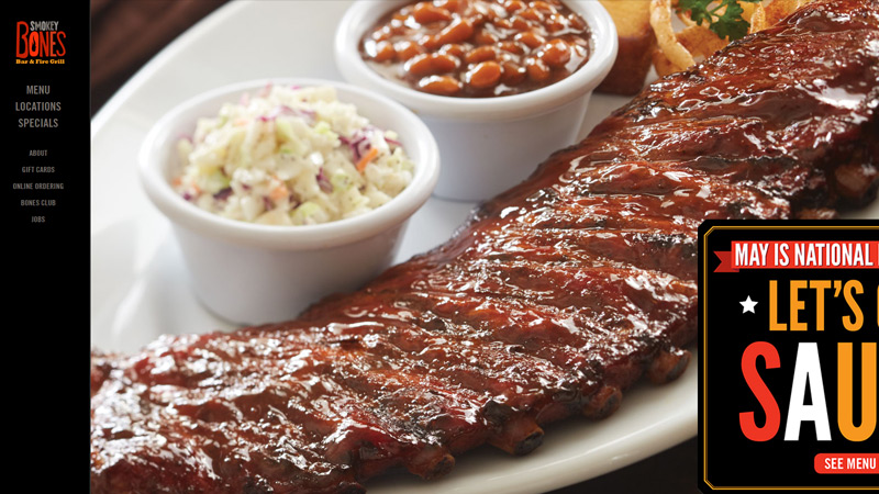 smokey bones restaurant bar grill bbq