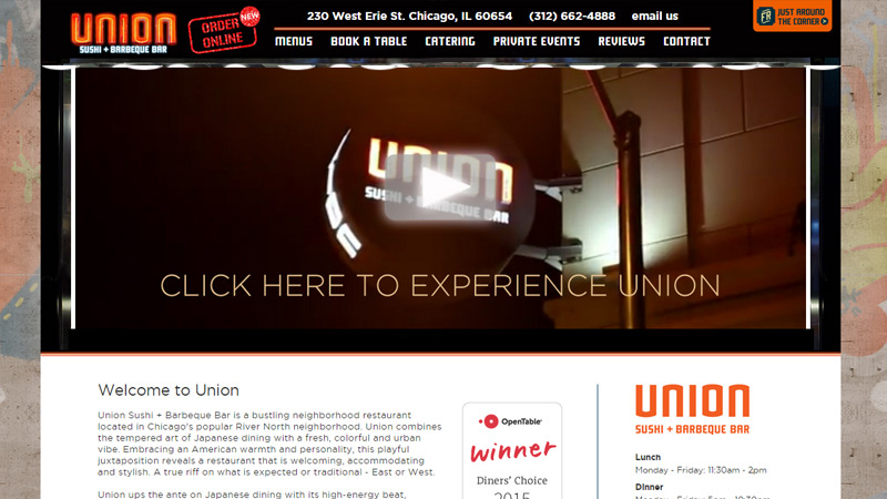union sushi bar grill website
