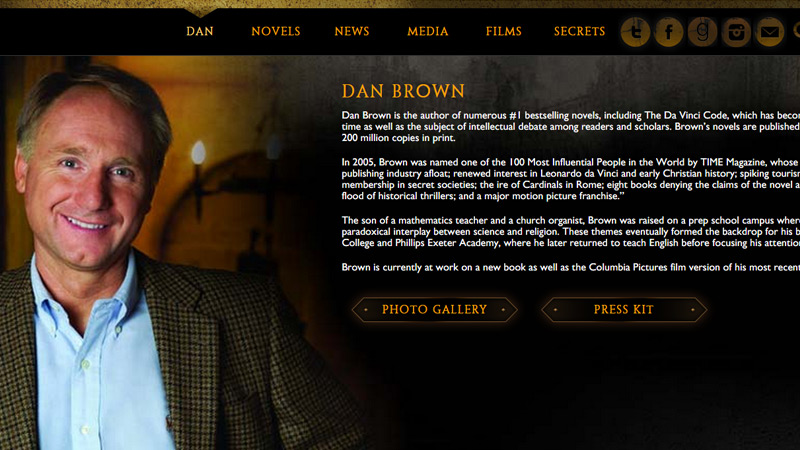 dan brown portfolio website