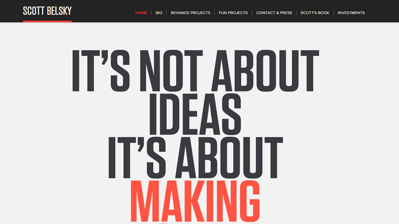 scott belsky writer portfolio design