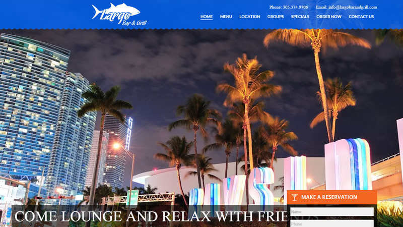 largo bar and grill website seafood