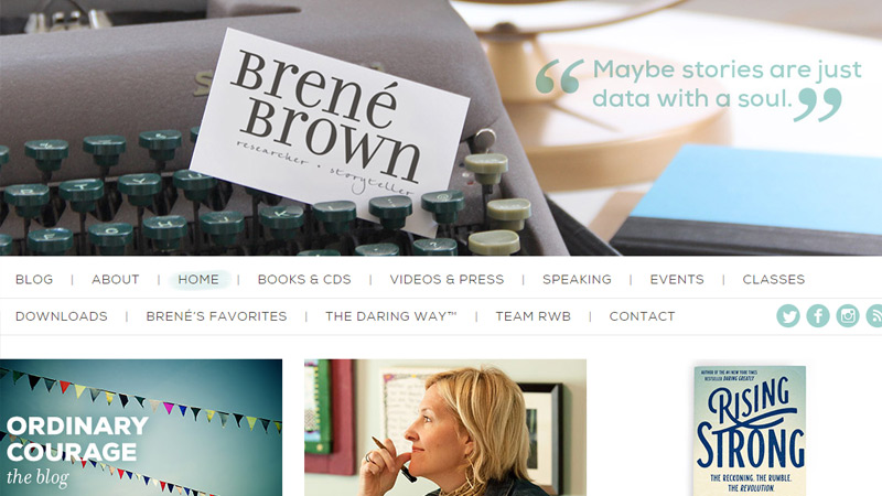 brene brown portfolio custom layout