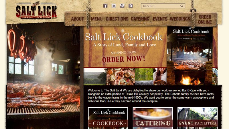 the salt lick restaurant website