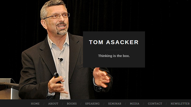 tom asacker portfolio website