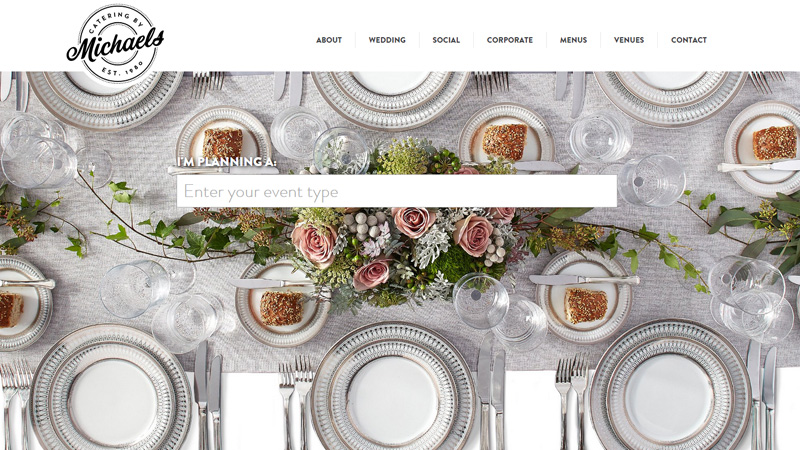 catering michaels website