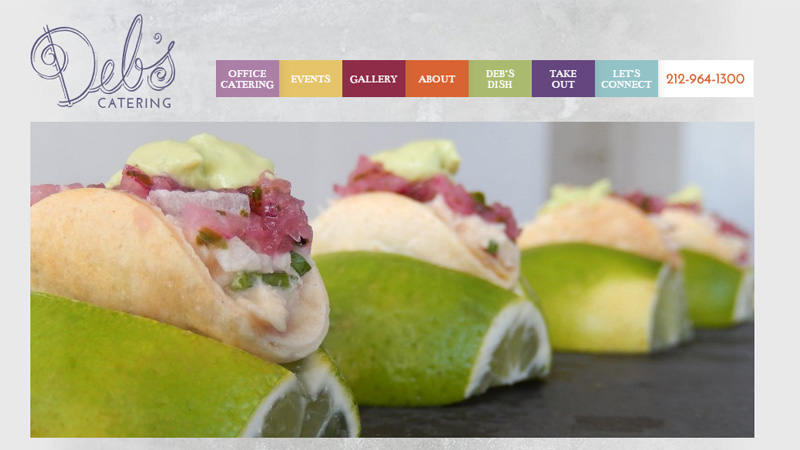 deb catering website layout