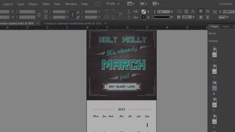 calendar design print